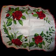 Kimball Rose Handkerchief