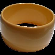 Wide Bakelite Cream Bracelet