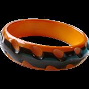 Two Tone Cast Bakelite Bracelet