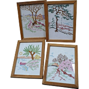 Seasons Embroidered Pictures