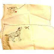 Embroidered Dog Placemats Runner
