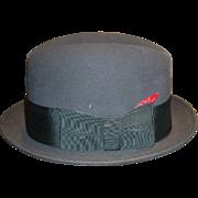 1960's Black Dobbs Hat