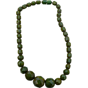 Bakelite Facet Bead Necklace