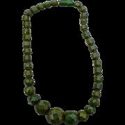 Bakelite Facet Bead Necklace
