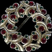Eisenberg Ice Xmas Wreath Pin