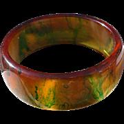 Inky Bakelite Bracelet