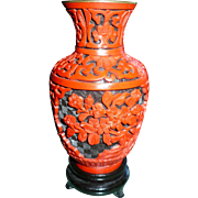 Chinese Small  Lacquerware Vase