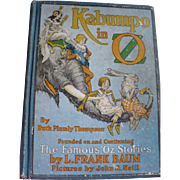 1922 Kabumpo Oz Book First Edition