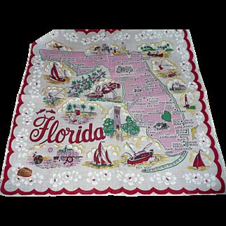 1950's Florida Handerchief