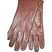 Brown Leather Men's Gloves