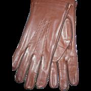 Brown Leather Men's Gloves