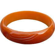 Orange Bakelite Bracelet