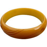 Butterscotch Bakelite Bracelet