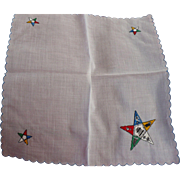 Embroidered Shriner Handkerchief