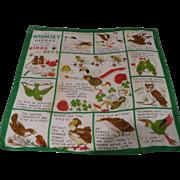 Birds Bees Whimsey Report Handkerchief