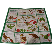 Birds Bees Whimsey Report Handkerchief