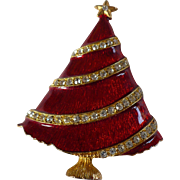 Eisenberg Red Xmas Tree Pin