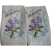 Embroidered Welcome Towels