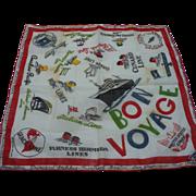 Bon Voyage Handkerchief