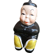 Asian Boy Lidded Jar