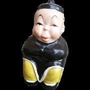 Asian Boy Lidded Jar