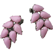 Pink Clip Earrings