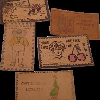 Leather Postcards