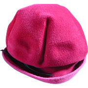 Pink Felt Ladies Hat