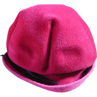 Pink Felt Ladies Hat