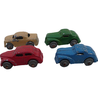 Four Metal Toy Cars