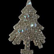 Eisenberg Ice Aurora Borealis Xmas Tree Pin