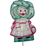 Plaster Cabbage Girl Hook