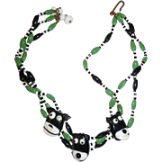 Glass Beaded Necklace Dogs
