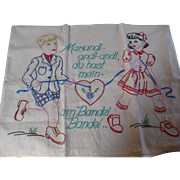 German Embroidery Pillow Cover