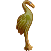 Bakelite Flamingo Pin