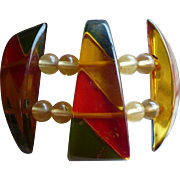 Bakelite Applejuice Stretch Bracelet