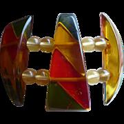 Bakelite Applejuice Stretch Bracelet