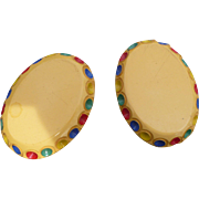 Multicolor Bakelite Clips