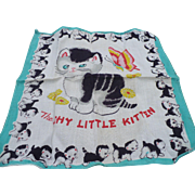 Child's Kitten Handkerchief