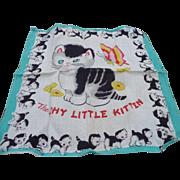 Child's Kitten Handkerchief