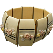Celluloid Floral Stretch Bracelet