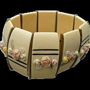 Celluloid Floral Stretch Bracelet