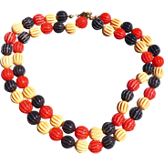 Patriotic Bakelite Bead Necklace