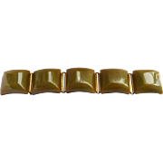 Green Bakelite Chuckles Bracelet