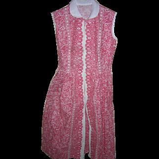 Red White Pique Dress