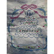 Embroidered Marriage Sampler