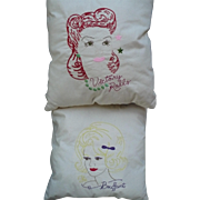 Embroidered Hairdo Pillows