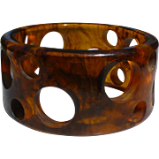 Bakelite Swiss Cheese Bracelet