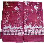 Woven Fish Towels