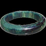 Marbled Blue Bakelite Bracelet
